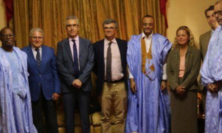 Le candidat Sidi Mohamed Ould Boubacar  reçoit des ambassadeurs de l'UE à Nouakchott
