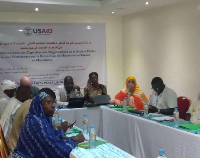 Atélier de  Formations de formateurs sur la  prévention de l'extrémisme violent en Mauritanie